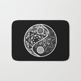Yin Yang Zentangle Bath Mat