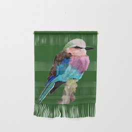 Lilac Breasted Roller Bird Wall Hanging