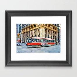 toronto streetcar Framed Art Print