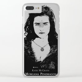 Katie McGrath - Morgana Pendragon Black and White Clear iPhone Case