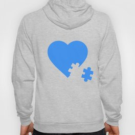 Asperger's Heart Puzzle Piece - Autism Awareness Month Hoody