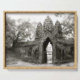 Daydreaming in the historical Cambodian Angkor Was National Park Serving Tray