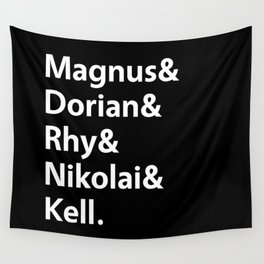 Book Princes Black Wall Tapestry