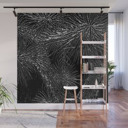 Joshua Tree Silver by CREYES Wall Mural