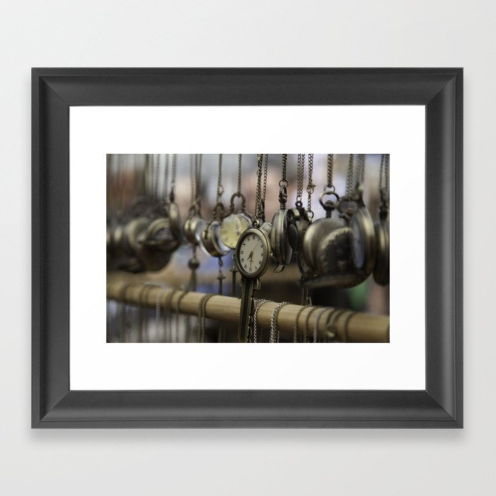 time pieces Framed Art Print