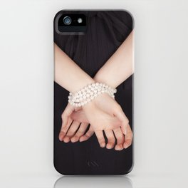 Tied with pearls iPhone Case