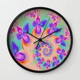 Butterflies flutter by Wall Clock