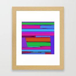 Linear echo 2 Framed Art Print