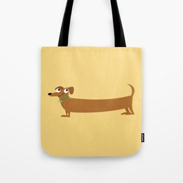 Joyful Doxie - Brown Tote Bag