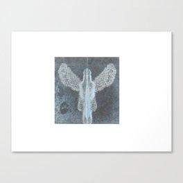 Blue angel guardian Canvas Print