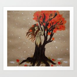 Fall Dryad Art Print