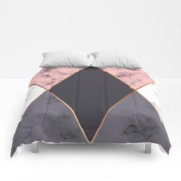 Marble Geometry 018 Comforters