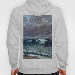 """Gustave Courbet """"The Wave 1969-1870 Berlin"""" Hoody"""