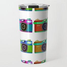Analog Cameras V2 - Hand Drawn Retro Watercolor Travel Mug
