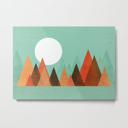 From the edge of the mountains Metal Print