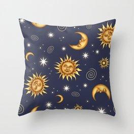 Vintage Celestial Mood Throw Pillow