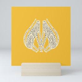 Snow Cheetahs Mini Art Print