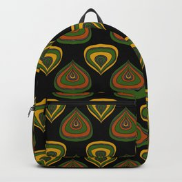 Black african fabric Backpack