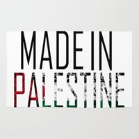 palestine Area & Throw Rugs featuring Made In Palestine by VirgoSpice
