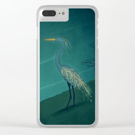 Camouflage: The Crane Clear iPhone Case
