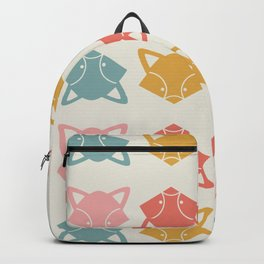 Woodland Creature Racoon Primary Color Pattern Backpack