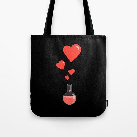 Love Chemistry Flask of Hearts Tote Bag