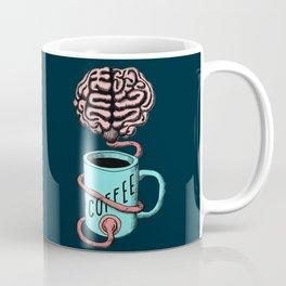 Coffee for the brain. Funny coffee illustration Coffee Mug