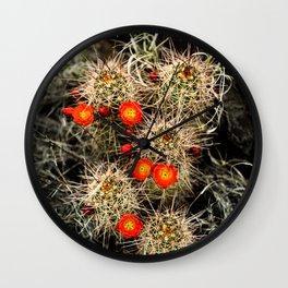 Southwest Cactus Flowers Wall Clock