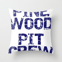 Boy Scouts Cub Scouts Pinewood Pit Crew Throw Pillow