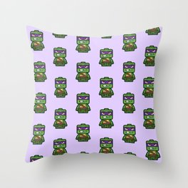 Chibi Donatello Ninja Turtle Throw Pillow