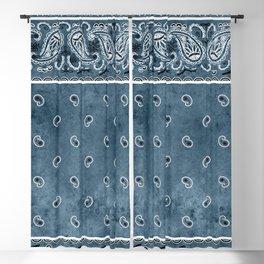 Blue Denim Bandana Blackout Curtain