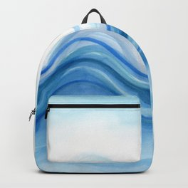 Transparent blue wave Backpack