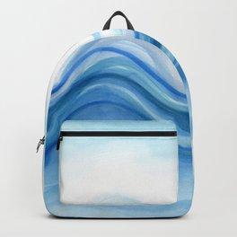 Transparent blue wave Backpack