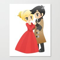 captain swan Canvas Prints featuring OUAT - Captain Swan Formal by Choco-Minto