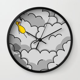 Umbrella Flying Wall Clock