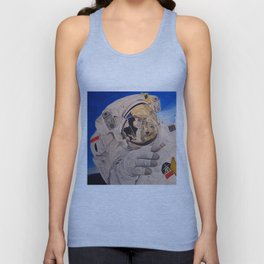 Astronaut in space, man. Unisex Tank Top