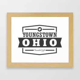 Youngstown: Founded 1796 Framed Art Print