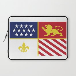 City of Detroit Flag in Minimal Design | Coat of Arms Laptop Sleeve