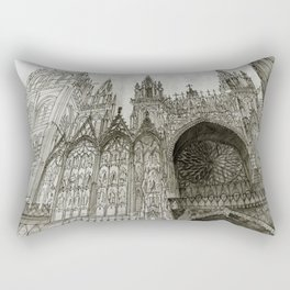 Rouen facade Rectangular Pillow