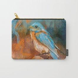 A Splash Of Bluebird Carry-All Pouch