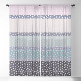 Dots and Stripes 4 Sheer Curtain