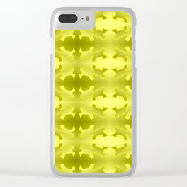 Pattern geometrical yellow 3d Clear iPhone Case