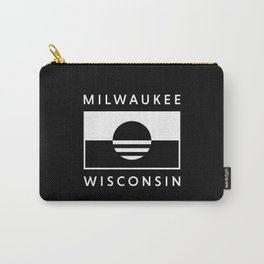 Milwaukee Wisconsin - Black - People's Flag of Milwaukee Carry-All Pouch