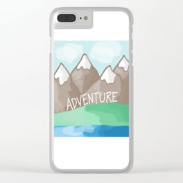 Adventure Mountains Clear iPhone Case