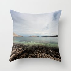Under horizon Throw Pillow