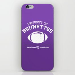 Property of Brunettes iPhone Skin