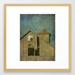 Barn and Geese Framed Art Print