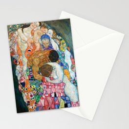 "Gustav Klimt ""Death and Life"" (detail) Stationery Cards"