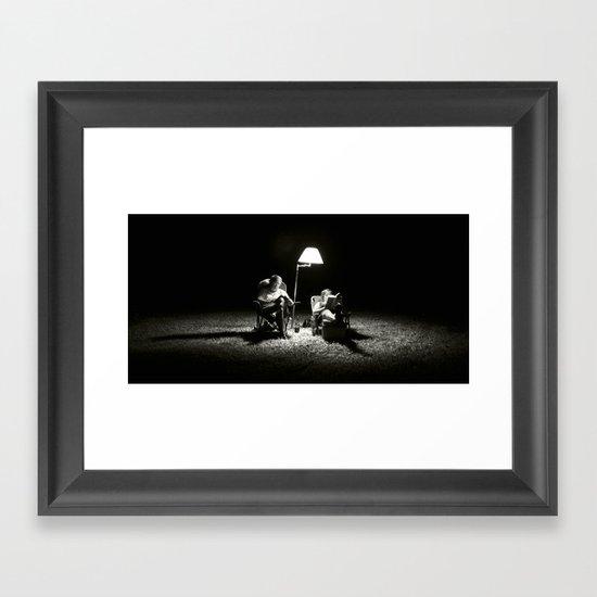 The Reading Light Framed Art Print