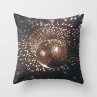 disco Throw Pillows featuring disco by oanauciuf